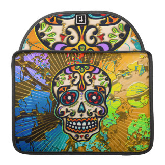 Mexican Sugar Skull, Day of the Dead Sleeve For MacBook Pro