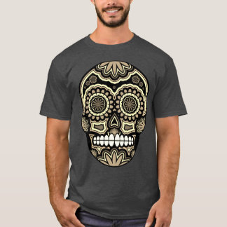 Mexican Sugar Skull Day Of The Dead T-Shirt