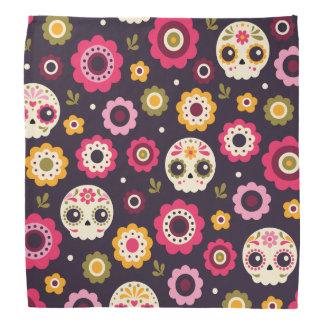Mexican Sugar Skull Floral Pattern Bandana
