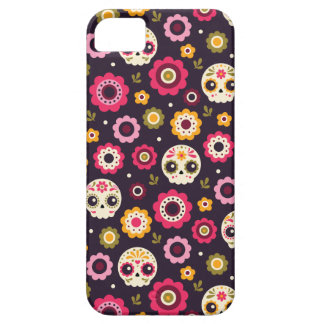 Mexican Sugar Skull Floral Pattern Case For The iPhone 5