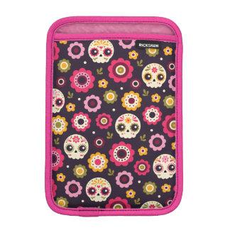 Mexican Sugar Skull Floral Pattern iPad Mini Sleeve