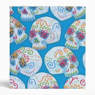 Mexican Sugar Skulls Binder