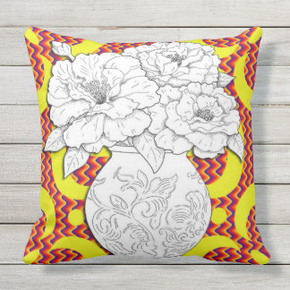 Mexican Summer Fiesta Throw Pillow