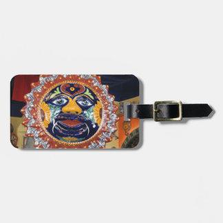 Mexican Talavera style sun Luggage Tag
