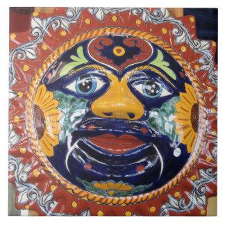 Mexican Talavera style sun Tile