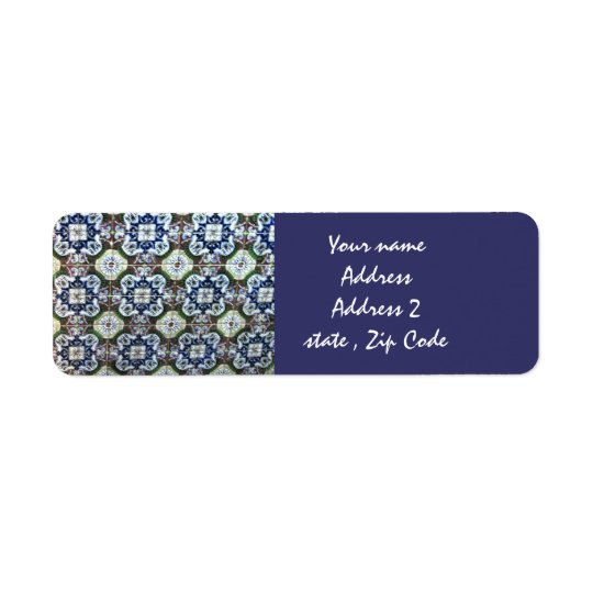 Mexican Talavera tile design address labels