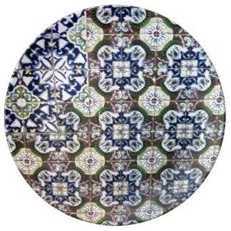 Mexican Talavera tile design porcelain plate