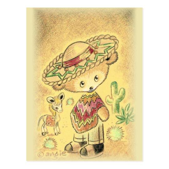 Mexican Teddy Bear In Sombrero Postcard