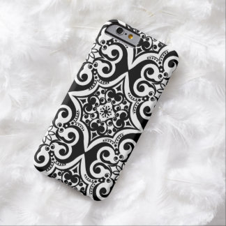 Mexican Tile Pattern   Black & White iPhone 6 Case