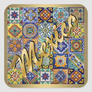 Mexican Tiles Square Sticker