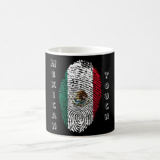 mexican touch fingerprint flag coffee mug