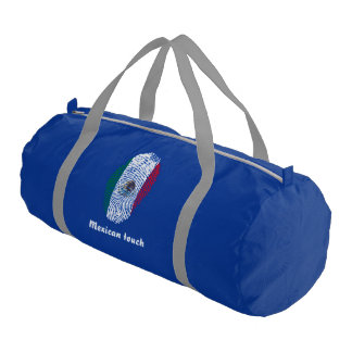 Mexican touch fingerprint flag gym bag