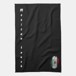 Mexican touch fingerprint flag kitchen towel