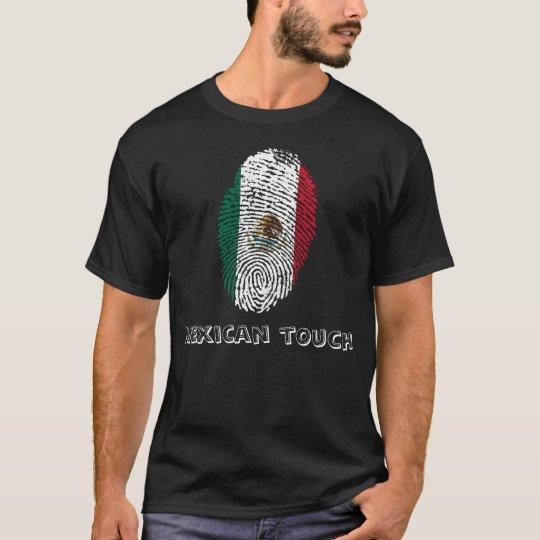 mexican touch fingerprint flag T-Shirt