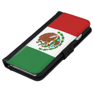 Mexican tricolor flag iPhone 6 wallet case