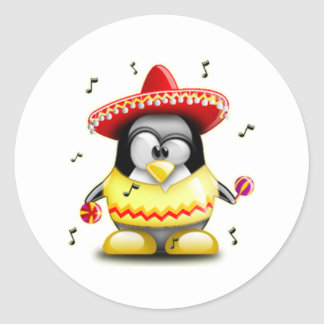 Mexican Tux Classic Round Sticker