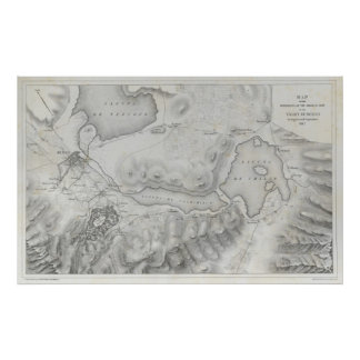 Mexican War Map Poster