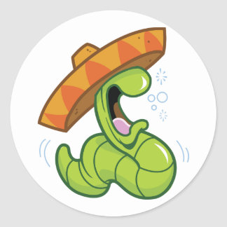 Mexican Worm Stickers