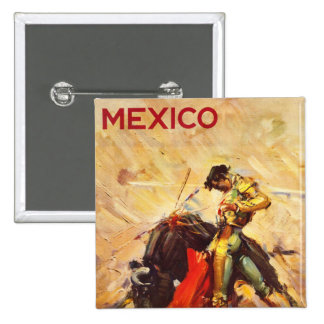 Mexico 2 Inch Square Button
