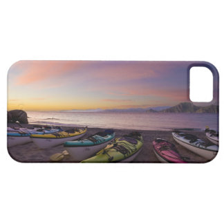 Mexico, Baja, Sea of Cortez. Sea kayaks and iPhone 5 Cases