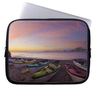 Mexico, Baja, Sea of Cortez. Sea kayaks and Computer Sleeve