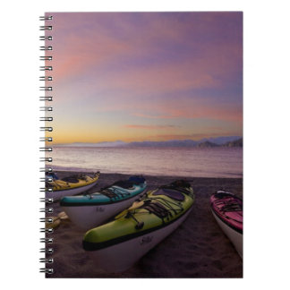 Mexico Baja Sea of Cortez Sea kayaks and Note Book