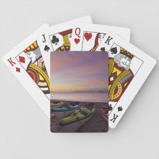 Mexico Baja Sea of Cortez Sea kayaks and Poker Cards