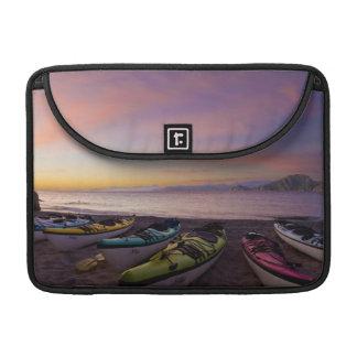 Mexico, Baja, Sea of Cortez. Sea kayaks and Sleeve For MacBook Pro