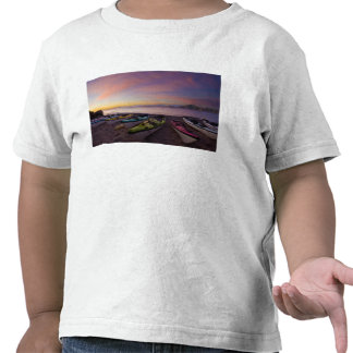 Mexico, Baja, Sea of Cortez. Sea kayaks and T Shirts