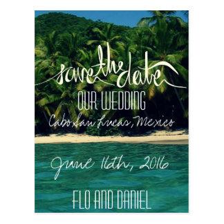 Mexico Beach Wedding Save The Date Postcard