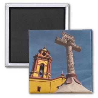 Mexico, Bernal. View of Iglesia de San Sebastian Magnet