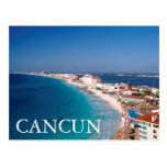 Mexico, Cancun, Aerial View Of Hotels Postcard