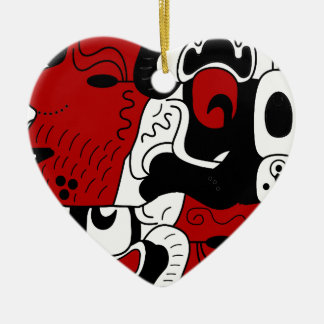 Mexico Ceramic Heart Ornament