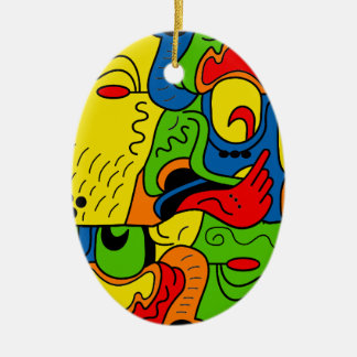Mexico Ceramic Oval Ornament