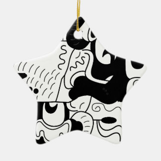 Mexico Ceramic Star Ornament