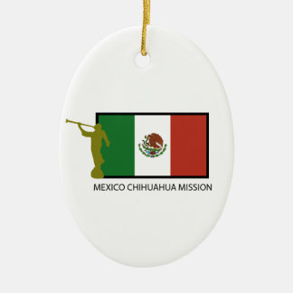 MEXICO CHIHUAHUA MISSION LDS CTR CERAMIC OVAL ORNAMENT