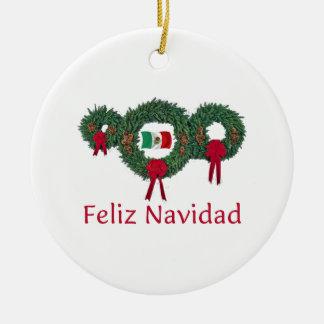 Mexico Christmas 2 Ceramic Ornament