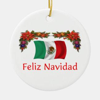 Mexico Christmas Ceramic Ornament