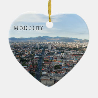 Mexico City, aerial view looking north Ceramic Ornament