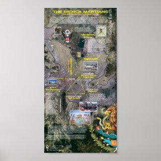 Mexico City Masonic Grids Poster