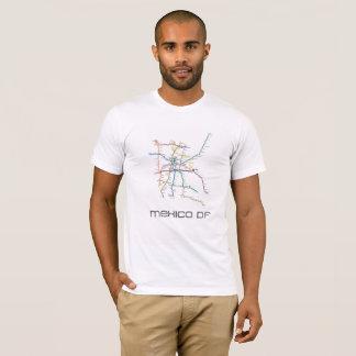 mexico city metro large map t-shirt
