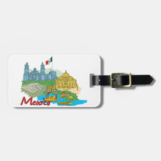 Mexico City, Mexico Luggage Tag