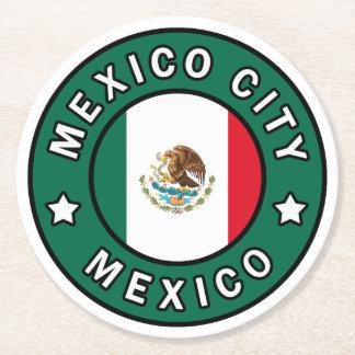 Mexico City Mexico Round Paper Coaster