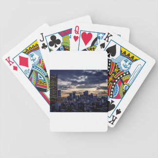 Mexico City Night Skyline Bicycle Playing Cards