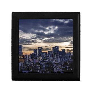 Mexico City Night Skyline Gift Box