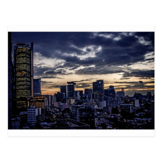 Mexico City Night Skyline Postcard
