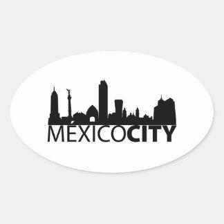 Mexico City Oval Sticker