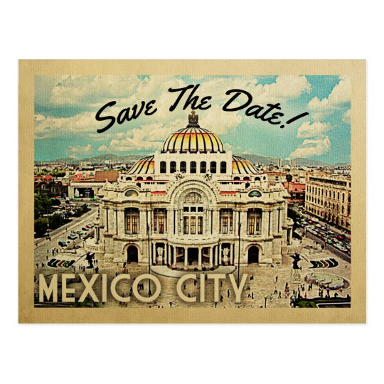 Mexico City Save The Date Palacio de Bellas Artes Postcard