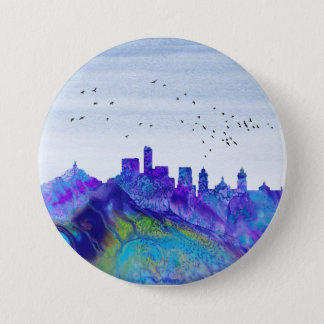 Mexico City Skyline 3 Inch Round Button