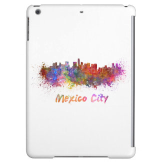 Mexico City skyline in watercolor iPad Air Covers